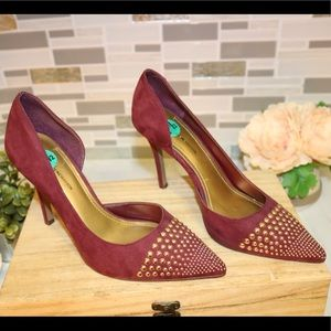 BCBGeneration suede burgundy pointed heels